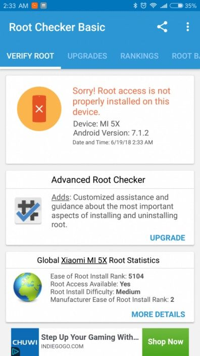 root checker en android