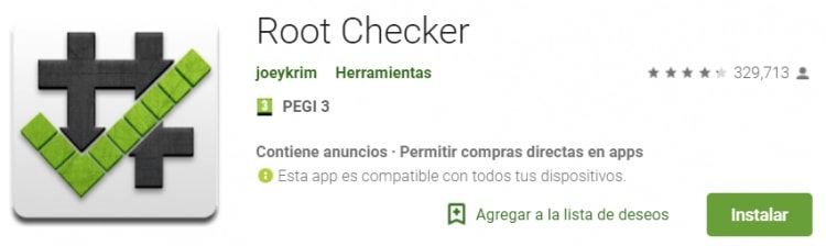 root checker en google play