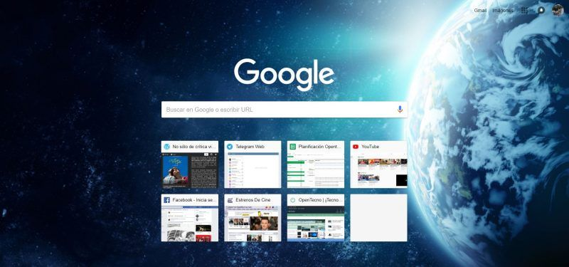 Temas Google Chrome